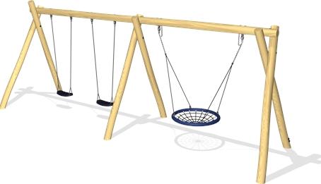 Balançoire qui complétera l'aire de jeux de Savigny-sous-Mâlain