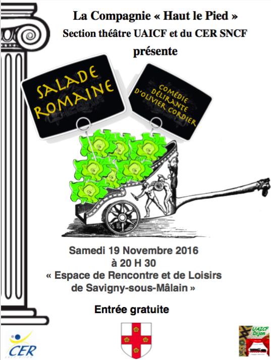 """Pièce de théâtre - Salade Romaine - La compagnie """"Haut le pied"""" - Savigny-sous-Mâlain"""